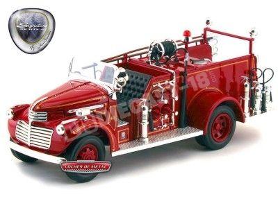 1941 GMC Firetruck Camión de Bomberos Rojo 1:24 Lucky Diecast 20068 Cochesdemetal.es