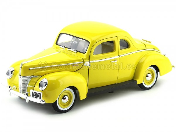 1940 Ford Deluxe Amarillo 1:18 Motor Max 73108 Cochesdemetal.es
