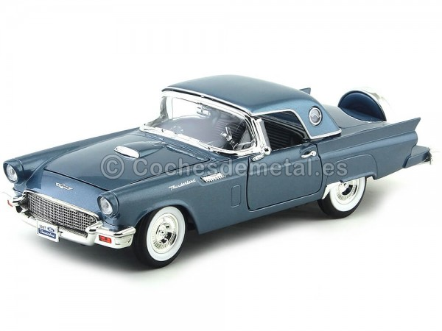 1957 Ford Thunderbird Open Convertible Azul 1:18 Lucky Diecast 92358 Cochesdemetal.es