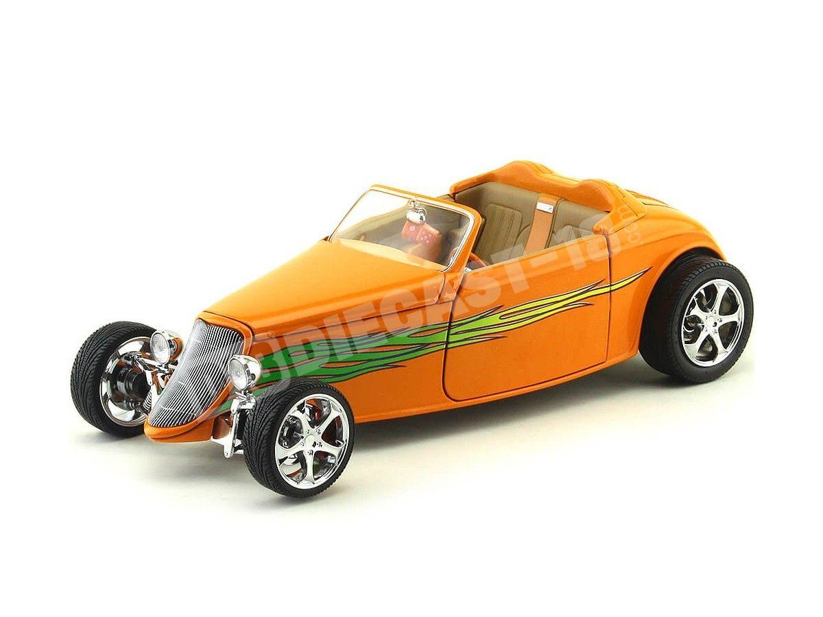 1933 Ford Coupe Shyne Rodz Naranja 1:18 Lucky Diecast 30108 Cochesdemetal.es