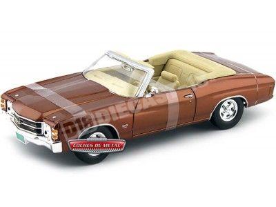 1971 Chevrolet Chevelle SS 454 Convertible Bronce 1:18 Maisto 31883 Cochesdemetal.es