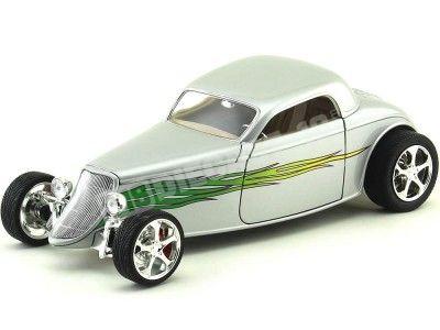 1933 Ford Coupé Shyne Rodz Gris 1:18 Lucky Diecast 92839 Cochesdemetal.es