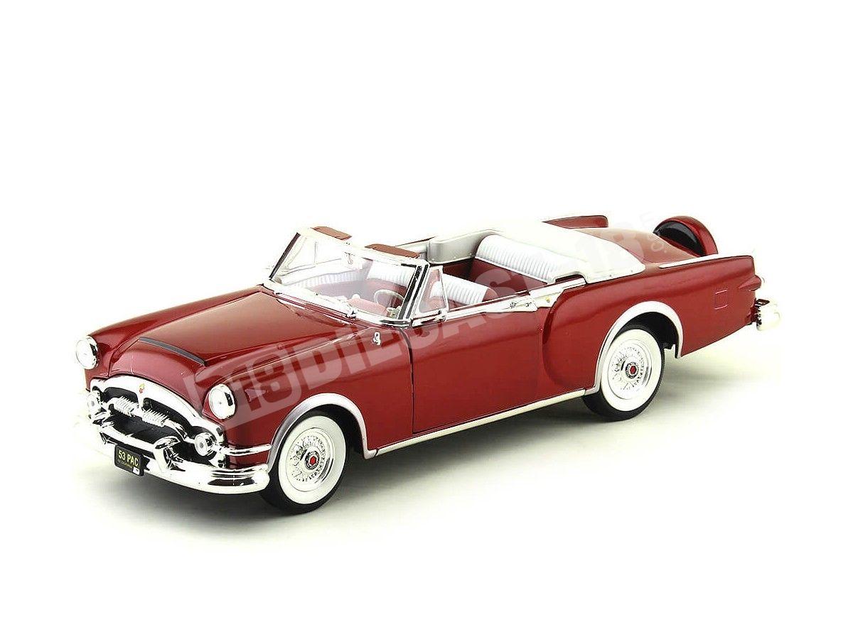 1953 Packard Caribbean Granate 1:18 Lucky Diecast 92798 Cochesdemetal.es