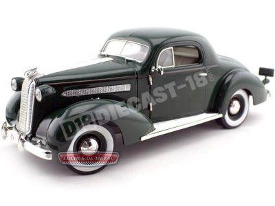 1936 Pontiac Deluxe Verde Metalizado 1:18 Signature Models 18106 Cochesdemetal.es