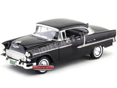 1955 Chevrolet Bel Air Hard Top Negro Metalizado 1:18 Motor Max 73185 Cochesdemetal.es