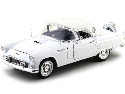 1956 Ford Thunderbird Hard Top Blanco 1:18 Motor Max 73176 Cochesdemetal.es