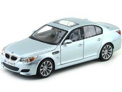 2006 BMW M5 Silver Blue Metallic 1:18 Maisto 31144 Cochesdemetal.es