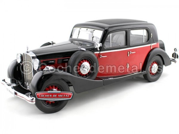 1937 Maybach Type SW35 4-Doors Limousine Rojo-Negro Signature 38208 Cochesdemetal.es