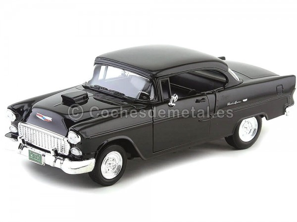 1955 Chevrolet Bel Air Hard Top Custom Negro Motor Max 79001 Cochesdemetal.es