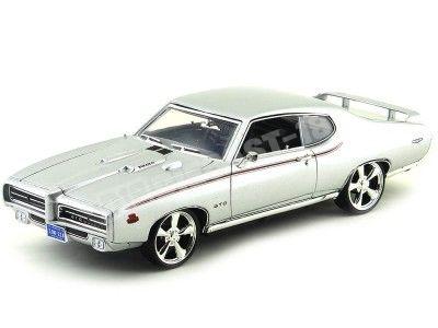 1969 Pontiac GTO Judge Custom Gris 1:18 Motor Max 79010 Cochesdemetal.es