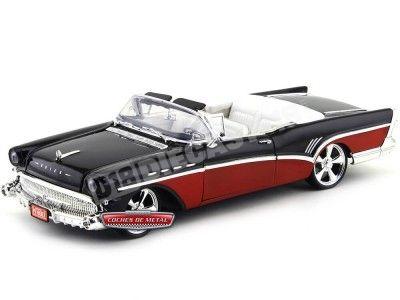 1957 Buick Roadmaster Custom Negro-Rojo Motor Max 79008 Cochesdemetal.es