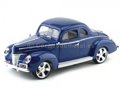 1940 Ford Deluxe Custom Azul Motor Max 79003 Cochesdemetal.es
