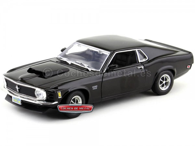 1970 Ford Mustang Boss 429 Negro Cuervo 1:18 Motor Max 73154 Cochesdemetal.es