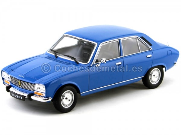 1975 Peugeot 504 Azul Marino 1:18 Welly 18001 Cochesdemetal.es