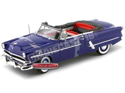 1953 Ford Crestline Sunliner Convertible Azul 1:18 Welly 12525 Cochesdemetal.es