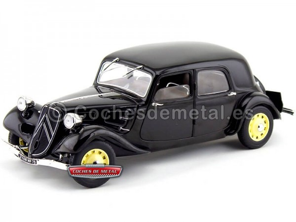 1937 Citroen Traction 11CV Berlina Negro 1:18 Solido S1800903 Cochesdemetal.es