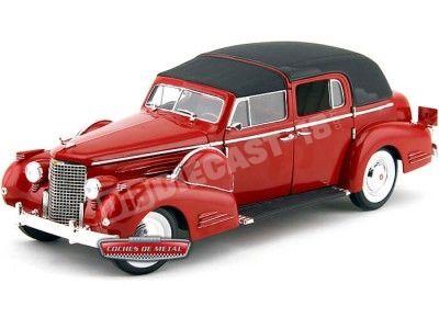 1938 Cadillac V16 Fleetwood Rojo Metalizado Signature Models 18117R Cochesdemetal.es