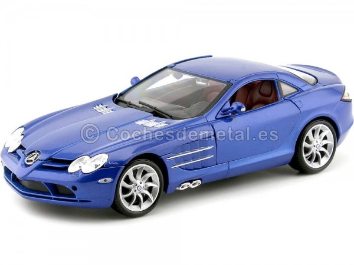 2003 Mercedes-Benz SLR McLaren Azul Metalizado 1:18 Maisto 36653 Cochesdemetal.es