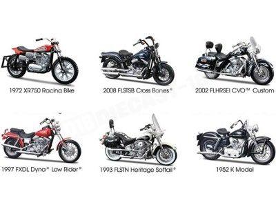 Lote 6 Motocicletas Harley-Davidson 1:18 Maisto 31360 Series 30 Cochesdemetal.es