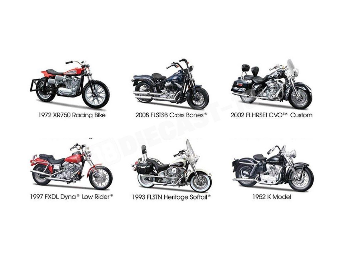 Harley-Davidson 2008 FLSTSB Cross Bones//scala 1:18 Maisto Modello