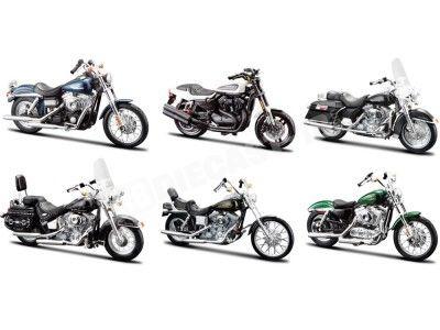 Lote 6 Motocicletas Harley-Davidson 1:18 Maisto 31360 Series 32 Cochesdemetal.es