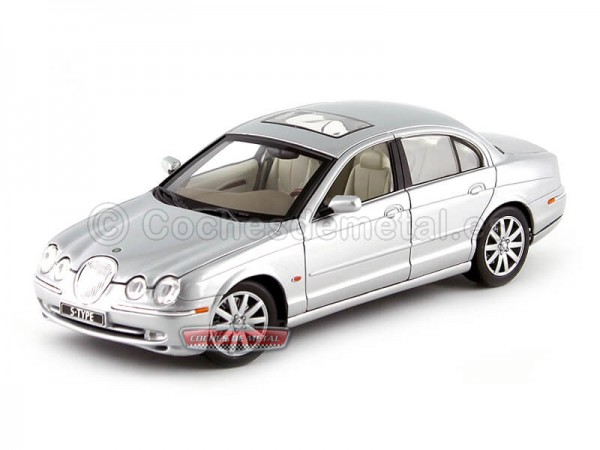 1998 Jaguar S-Type Gris Metalizado 1:18 Welly 19838 Cochesdemetal.es