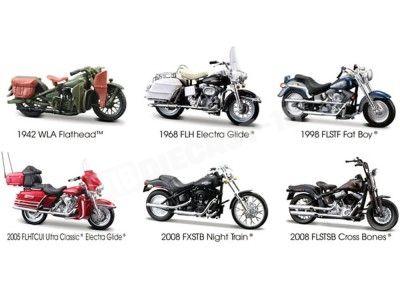 Lote 6 Motocicletas Harley-Davidson 1:18 Maisto 31360 Series 26 Cochesdemetal.es