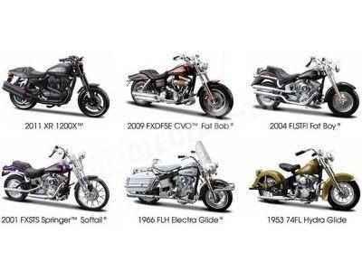 Lote 6 Motocicletas Harley-Davidson 1:18 Maisto 31360 Series 29 Cochesdemetal.es