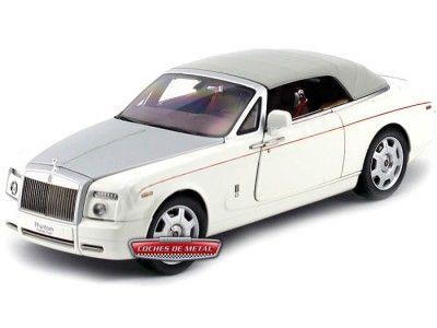 2012 Rolls-Royce Phantom Drophead Coupe English White Kyosho 08871EW Cochesdemetal.es