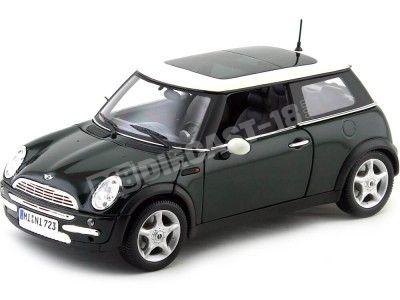 2004 Mini Cooper R50 Verde-Blanco 1:18 Maisto 31656 Cochesdemetal.es