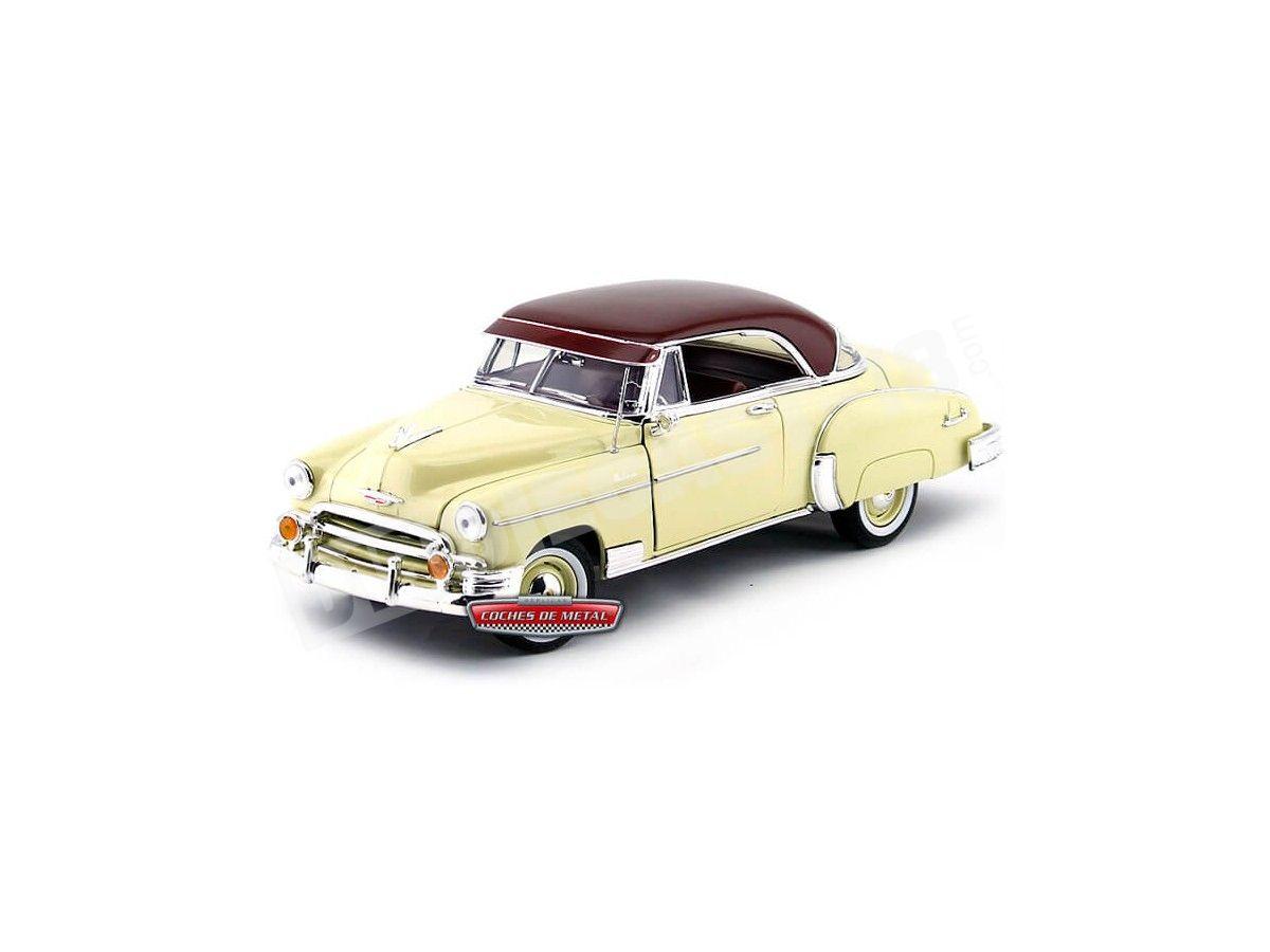 1950 Chevrolet Bel Air Hard Top Amarillo 1:18 Motor Max 73111 Cochesdemetal.es