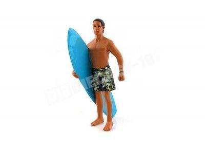 "FIGURA DE RESINA ""Surfista Matthew con tabla de surf"" (AD23797). Cochesdemetal.es"
