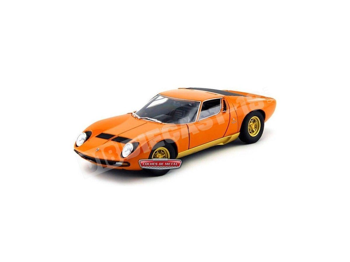 1971 Lamborghini Miura SC Naranja 1:18 Welly 18017 Cochesdemetal.es