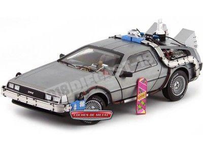 "1989 DeLorean DMC 12 ""Regreso al Futuro II"" 1:18 Hot Wheels Elite BCJ97 Cochesdemetal.es"