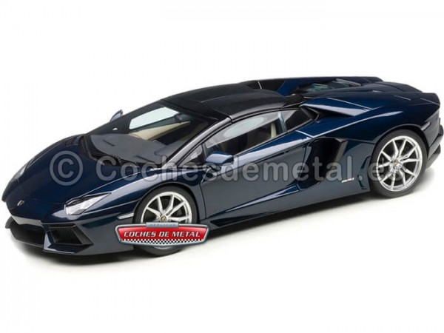 2014 Lamborghini Aventador LP700-4 Roadster Nero Nemesis 1:18 AUTOart 74698 Cochesdemetal.es