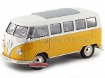 1962 Volkswagen T1 Classical Microbus Amarillo-Blanco 1:18 Welly 12531