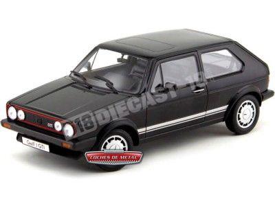 1982 Volkswagen Golf 1 Pirelli Negro Metalizado 1:18 Welly 18039 Cochesdemetal.es