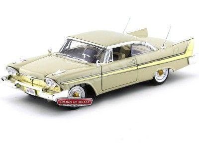 1958 Plymouth Fury Beige 1:18 Motor Max 73115 Cochesdemetal.es