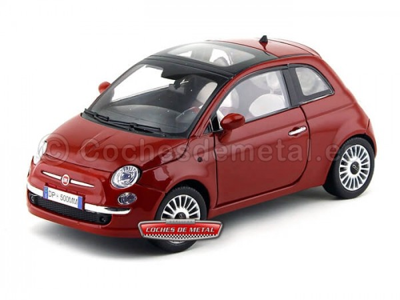 2007 Fiat Nuova 500 Coupe Granate 1:18 Motor Max 79163