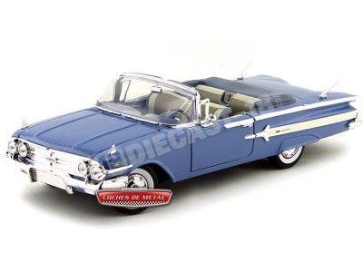 1960 Chevrolet Impala Convertible Azul 1:18 Motor Max 73110 Cochesdemetal.es