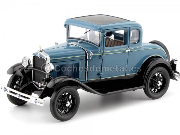 1931 Ford Model A Coupe Azul-Negro 1:18 Sun Star 6130 Cochesdemetal.es