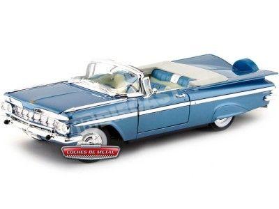 1959 Chevrolet Impala Convertible Azul 1:18 Lucky Diecast 92118 Cochesdemetal.es