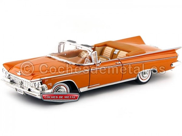 1959 Buick Electra 225 Open Convertible Copper Glow 1:18 Lucky Diecast 92598 Cochesdemetal.es