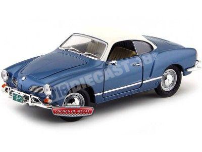 1966 Volkswagen Karman-Ghia Azul Metalizado 1:18 Lucky Diecast 92198 Cochesdemetal.es