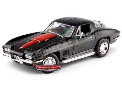 1967 Chevrolet Corvette 427 Coupe Negro 1:18 Auto World AMM1004 Cochesdemetal.es