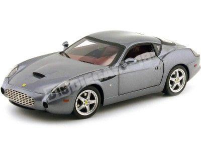 2006 Ferrari F575 GTZ Zagato Gris Metalizado 1:18 Hot Wheels Elite P9915 Cochesdemetal.es