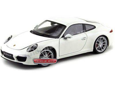 2012 Porsche 911 (991) Carrera S Blanco 1:18 Welly 18047 Cochesdemetal.es
