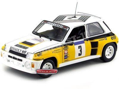 "1984 Renault 5 Turbo Winner TOUR DE FRANCE ""Europcar"" Universal Hobbies 4551 Cochesdemetal.es"