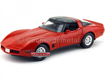 1982 Chevrolet Corvette Coupe Rojo 1:18 Welly 12546 Cochesdemetal.es