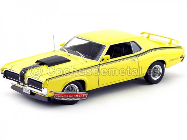 1970 Mercury Cougar Eliminator Amarillo 1:18 Welly 12520 Cochesdemetal.es